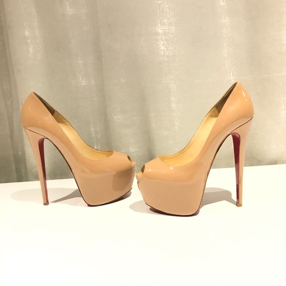 Christian Louboutin Shoes - Christian Louboutin patent highness peep toe pumps
